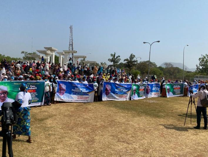 Kankara Boys: Nigerian women hold one million rally to appreciate President Buhari
