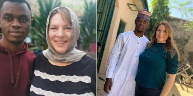PHOTOS: 46-Year-Old American Woman Arrives Nigeria To Wed 23-Year-Old Lover