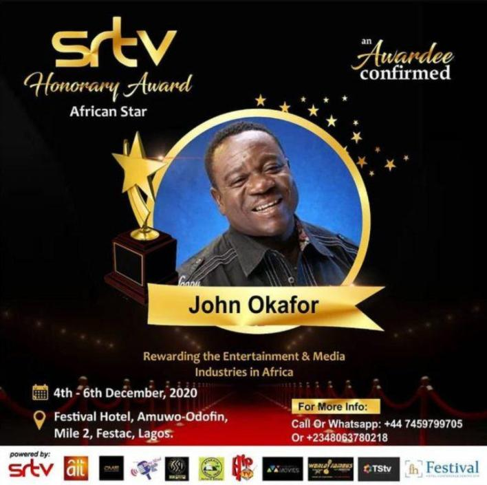 Comic Actor, Mr Ibu Receives Award As The Best Comedian In Nollywood