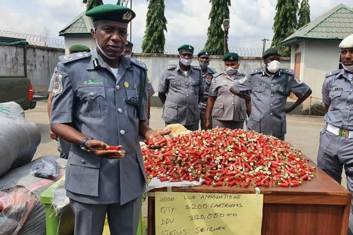 PHOTOS: Customs intercepts 5200 live ammunitions, contraband goods worth N386m