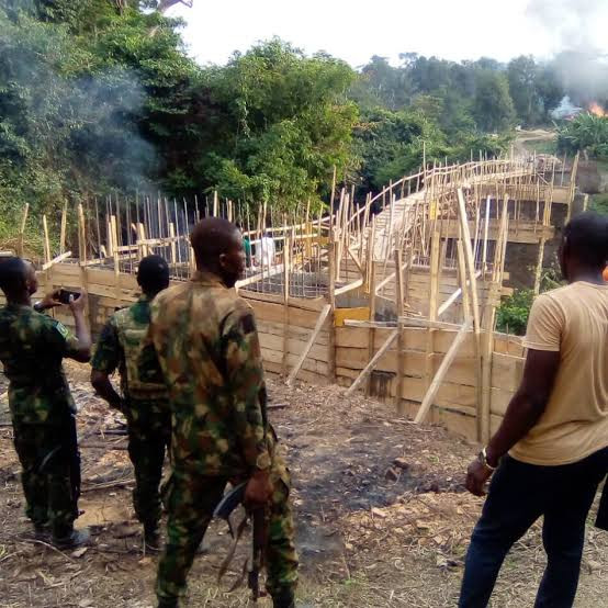 Government to demolish secret bridge constructed by unknown persons in Ogun forest (Photos)