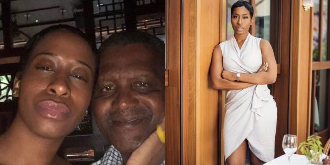 """""""I'm Not A Side Chick, He's Not Married"""" – Alleged Dangote's Mistress, Bae Lewis Replies Wendy"""