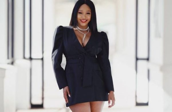 Minnie Dlamini shares adorable video of her husband holding their son