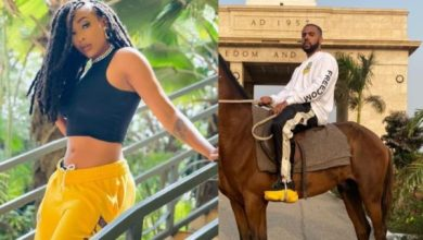 Nadia Nakai bumps into American rapper, Vic Mensa in Ghana – Watch