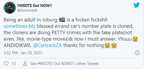 Busiswa calls out scammers using her car number plate to commit petty crimes