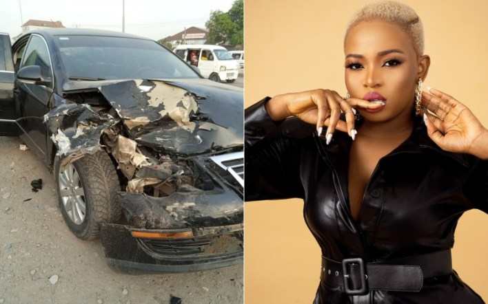 BBNaija's Cindy Okafor involved in ghastly car accident on birthday (Video)