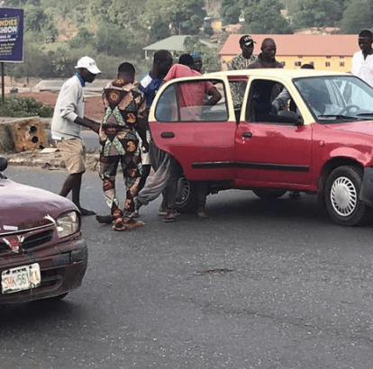 Taxi Driver Crushes Staff Of Waste Management Company In Ibadan (Photo)