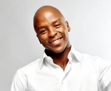 Kabelo Mabalane takes a walk with his son