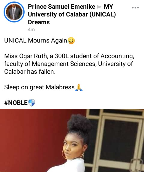 300 Level UNICAL Student Dies Mysteriously In Her Sleep