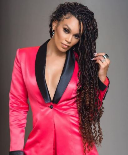 Pearl Thusi claps back at troll shading her