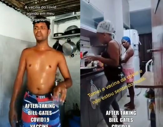 Hilarious TikTok videos on people's behaviour after taking Bill Gate's COVID-19 vaccine – Watch