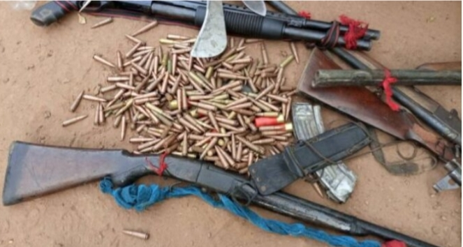 Firearms, ammunition recovered by DSS, army in Ebonyi