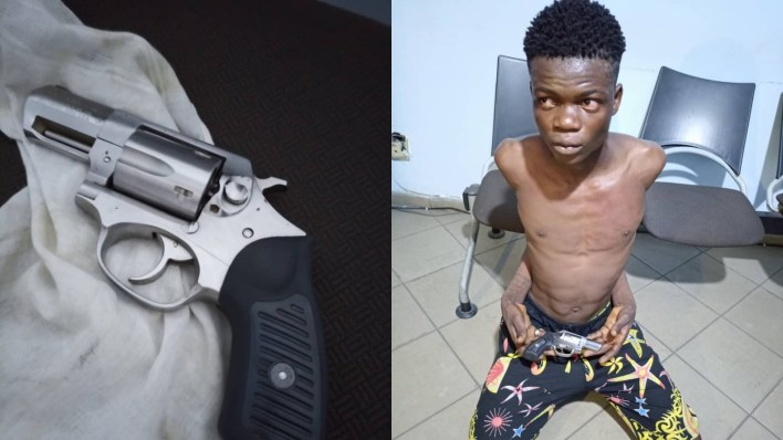 Police arrest man for using pistol to threaten a female prostitute in Lagos
