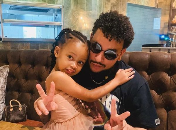 Watch: AKA and daughter, Kairo Forbes spotted in a car together