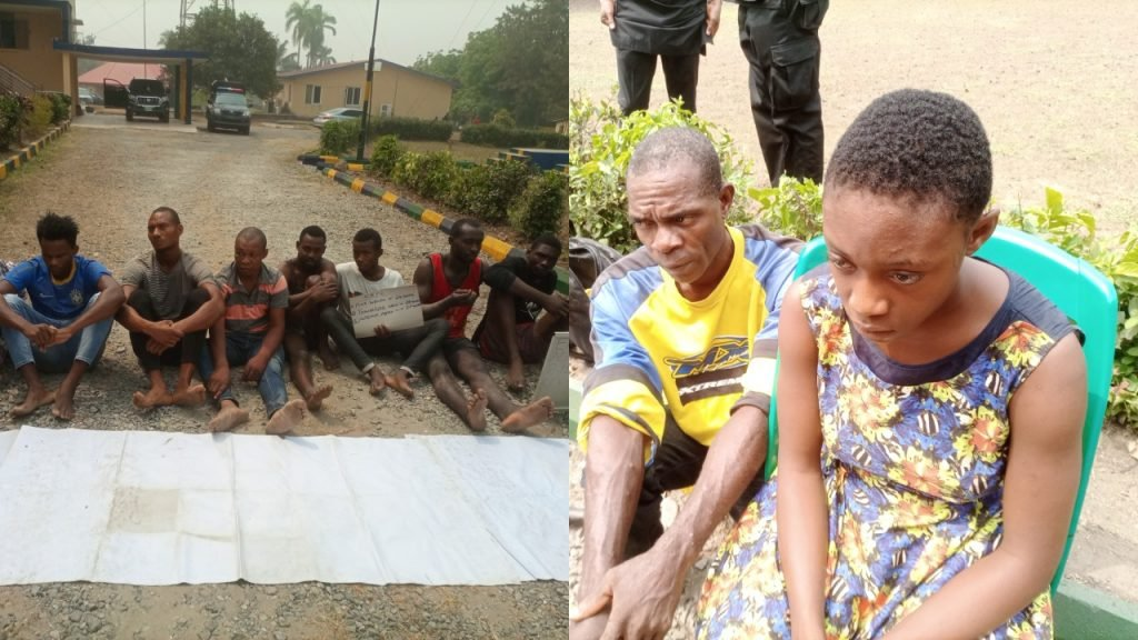 Police parades 17 year old female cultist, 12 other suspects in Cross River