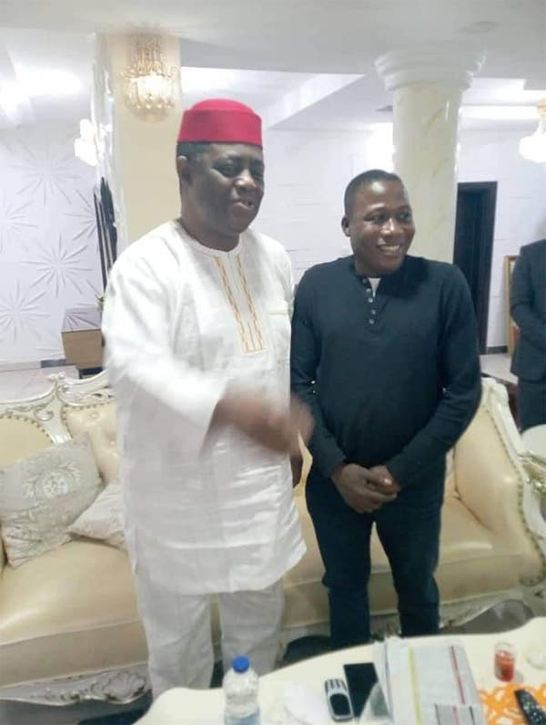 Fani-Kayode meets Sunday Igboho in Ibadan (PHOTOS)