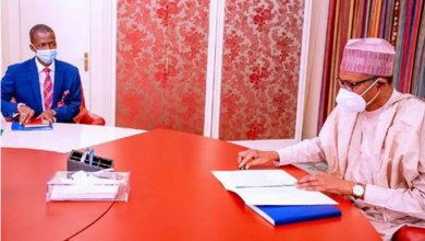 Buhari meets new EFCC boss Abdulrasheed Bawa