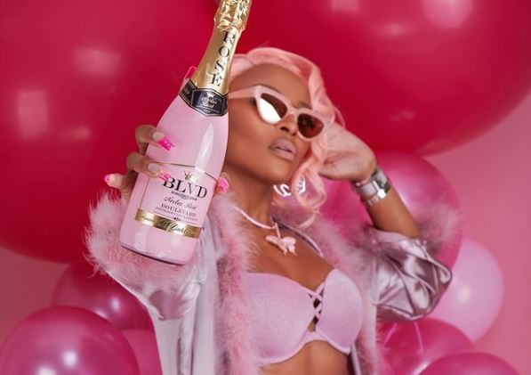 DJ Zinhle launches own BLVD Signature edition MCC Nectar Rosé