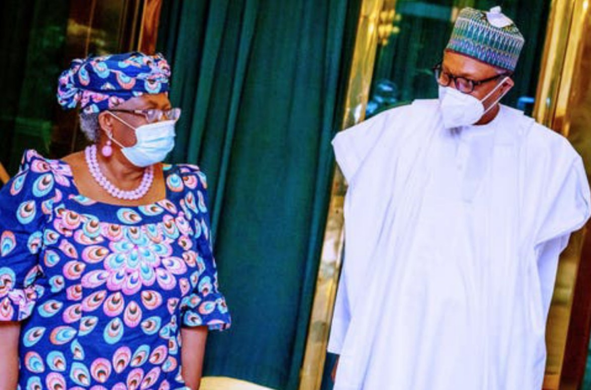 Okonjo-Iweala thanks Buhari as US backs her for WTO