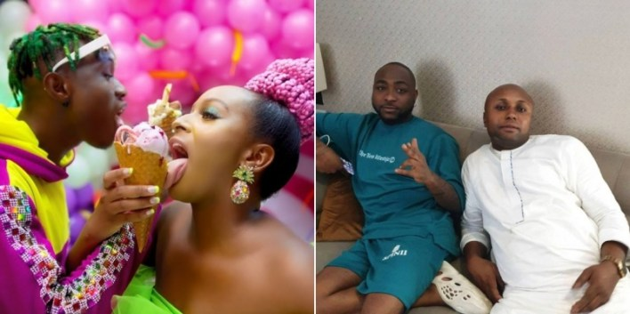 Davido reacts following DJ Cuppy's threat to sue his PA, Isreal DMW