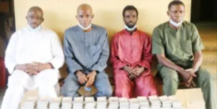 Police arrests four suspects over possession of N5.7 million counterfeit notes in Abuja