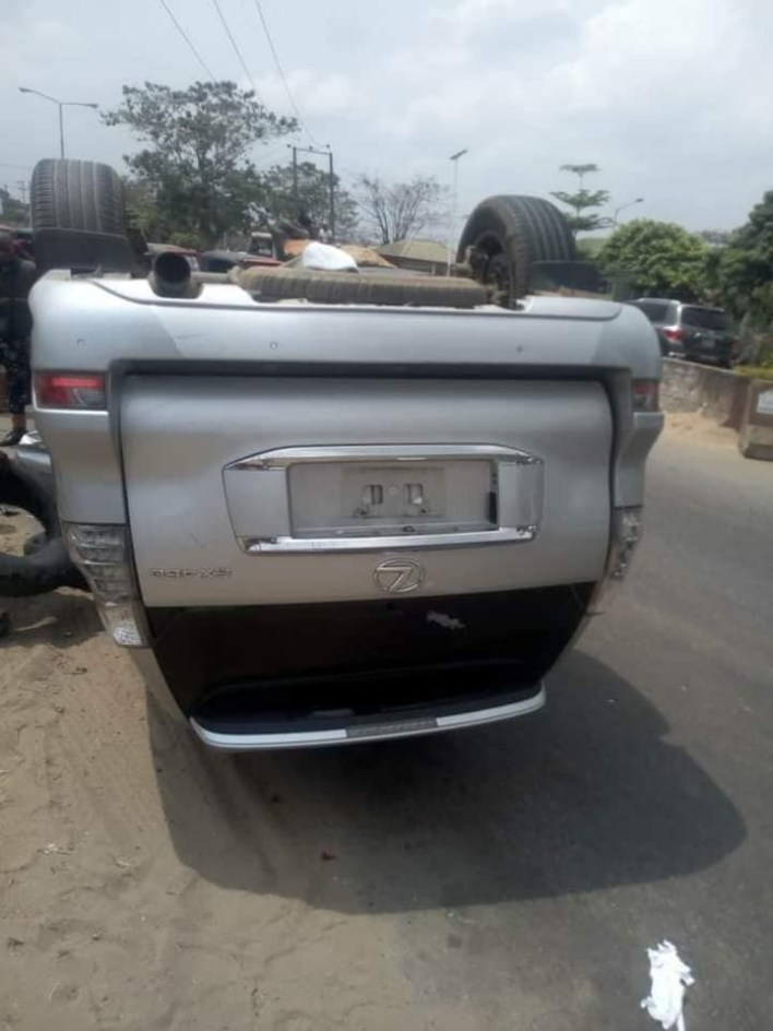 PHOTOS: Akwa Ibom pastor survives ghastly motor accident