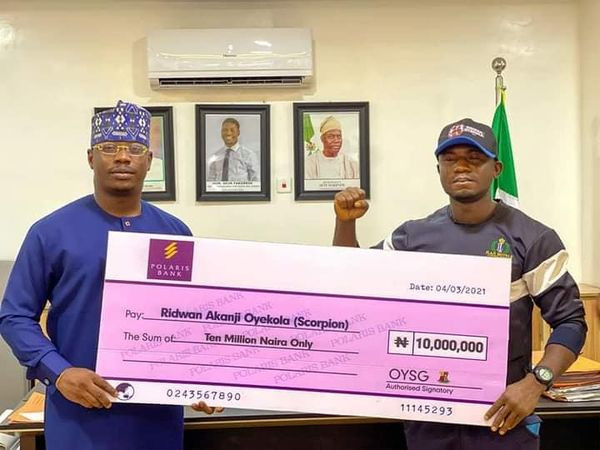 Gunmen attack Nigerian WBF boxing champion, Ridwan shortly after he received N10m cheque from Gov Makinde