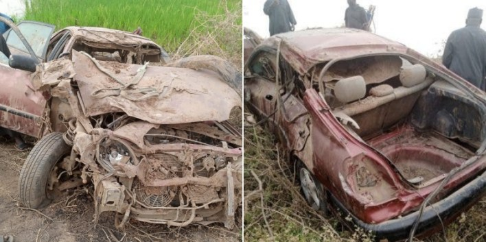 PHOTOS: Three killed as car plunges into river in Bauchi