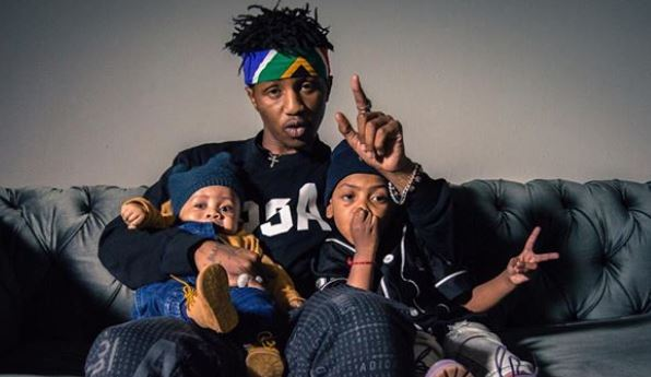Emtee and sons in the studio perfecting forthcoming album – Photos