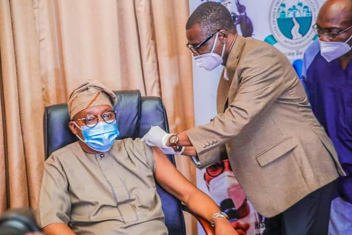 Osun Governor receives first jab of COVID-19 vaccine