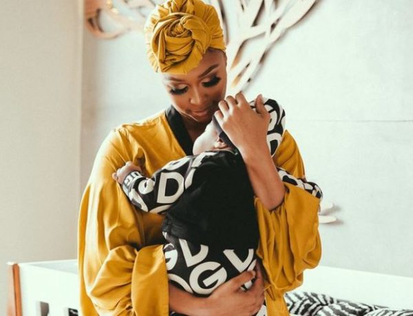 Minnie Dlamini takes son to the beach for the 1st time to receive blessings (Video)