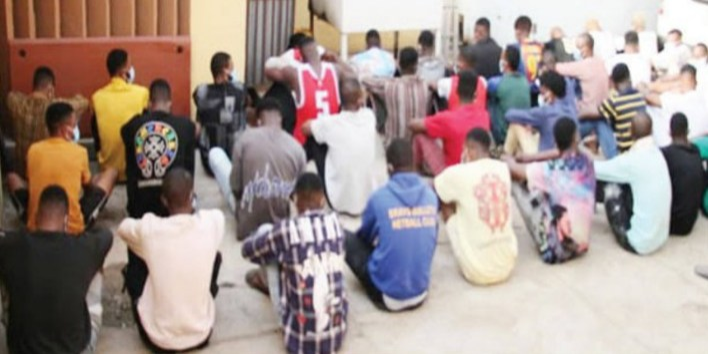 EFCC parade siblings, 35 others for Internet fraud in Ekiti