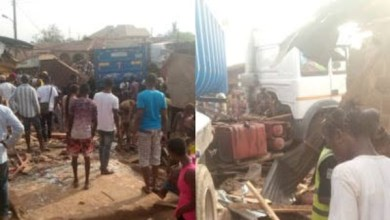 Woman killed in her bedroom as truck rams into building in Abeokuta