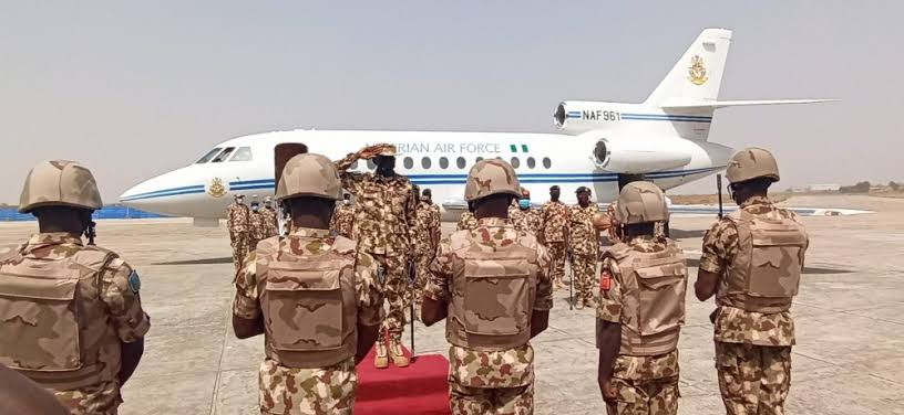 Insurgency: CDS, Service Chiefs storm Maiduguri again