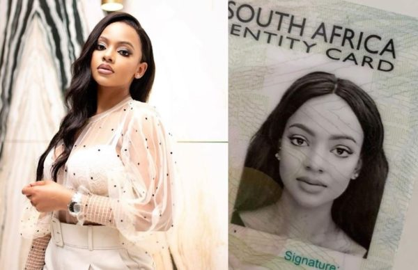 Mihlali Ndamase: South Africans question her perfect ID photo