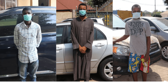 Six suspected car snatchers arrested in Abuja