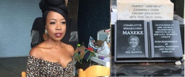 Ntsiki Mazwai pays respect to Charlotte Maxeke as she visits her gravesite