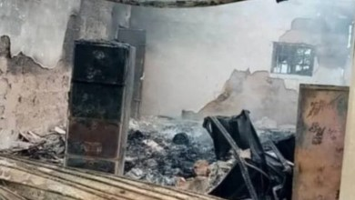 Police react to Abia INEC office fire, say unknown miscreants behind attack