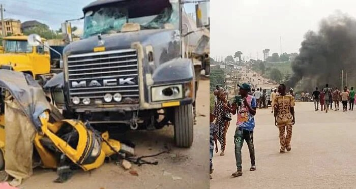 Truck crushes tricycle, kills three occupants in Lagos