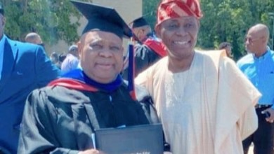 Photos, Video: Davido's uncle, Ademola Adeleke, bags degree from US university
