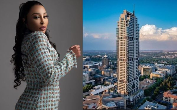 Khanyi Mbau finally unveils own huge workspace in Sandton