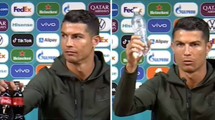 Euro 2020: Coca Cola loses $4 billion as Cristiano Ronaldo removes soft drink bottles and endorses water