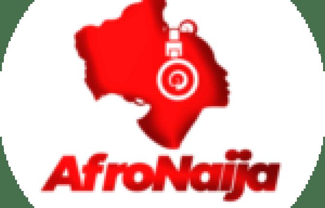 Red Bull F1 driver Sergio Perez on the podium in Baku