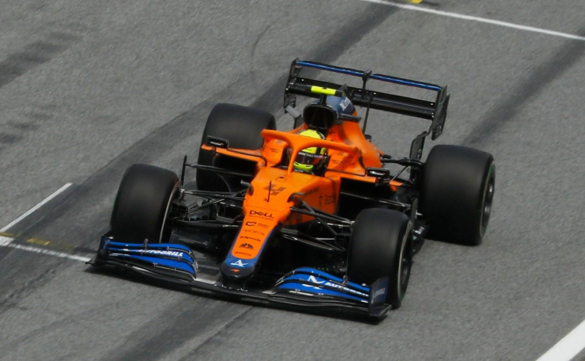 Lando Norris during the FP2 session in Styria