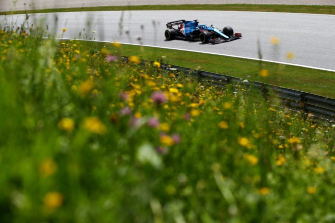 Fernando Alonso in action at the Styrian GP