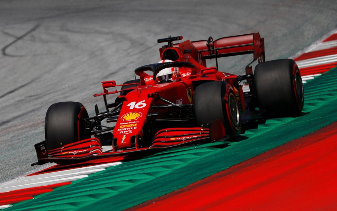 Charles Leclerc in action at the Styrian GP