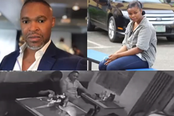 CCTV Footage of Chidinma and Super TV CEO at a restaurant before she allegedly stabbed him to death