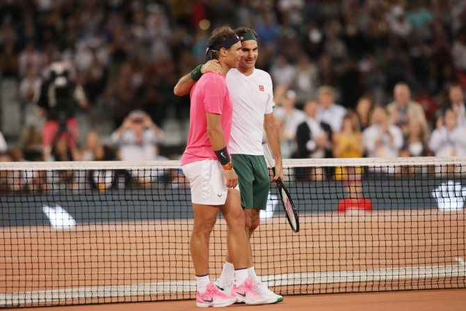 Roger Federer and Rafael Nadal in South Africa
