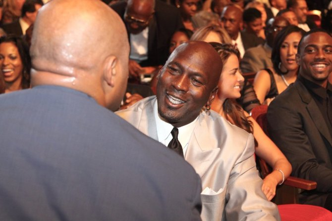 Michael Jordan meeting Charles Barkley