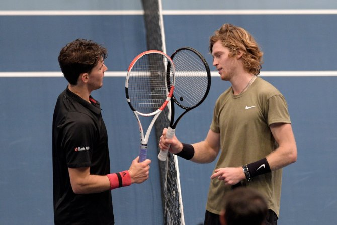 Dominic Thiem and Andrey Rublev